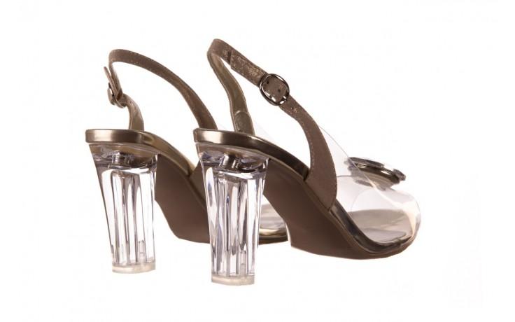 Sandały sca'viola g-17 gold, złoty, silikon - gumowe - sandały - buty damskie - kobieta 3