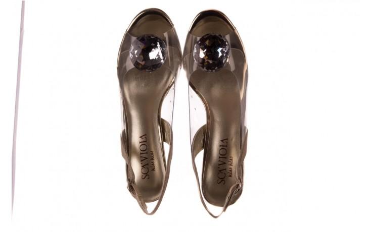 Sandały sca'viola g-17 gold, złoty, silikon - gumowe - sandały - buty damskie - kobieta 4