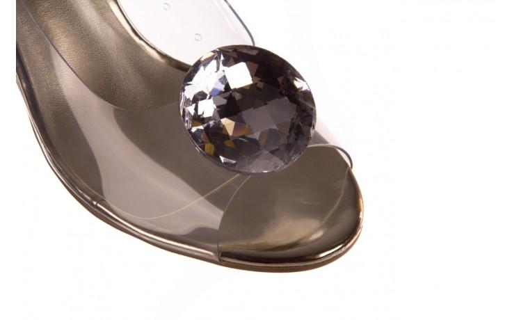 Sandały sca'viola g-17 gold, złoty, silikon - gumowe - sandały - buty damskie - kobieta 5