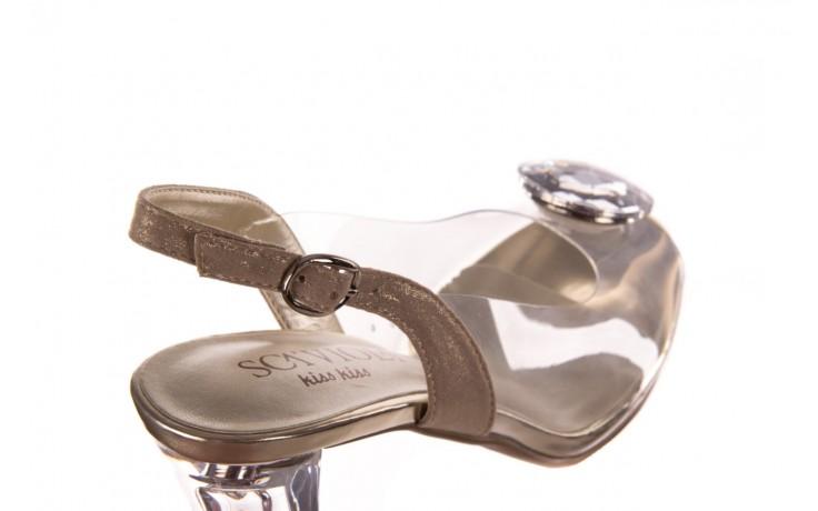 Sandały sca'viola g-17 gold, złoty, silikon - gumowe - sandały - buty damskie - kobieta 6
