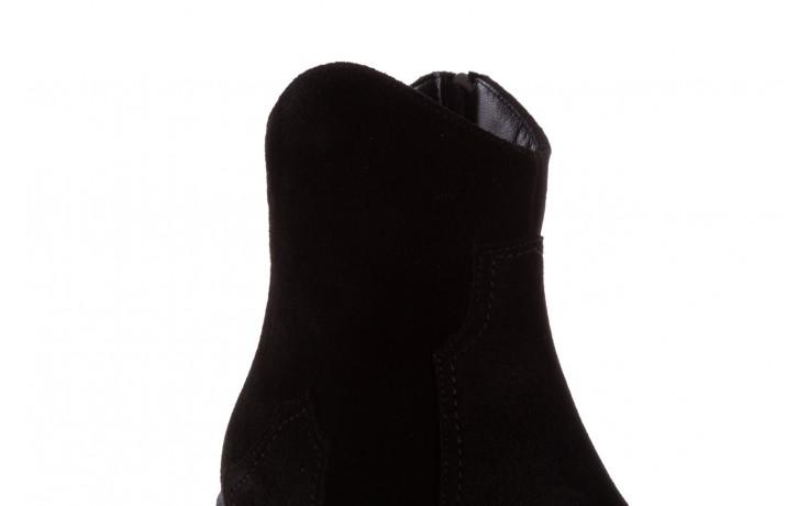 Botki bayla-196 147802 siy yarma 196005, czarny, skóra naturalna  - kowbojki / boho - botki - buty damskie - kobieta 8