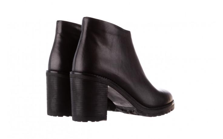 Botki bayla-196 969601 siy soft 196030, czarny, skóra naturalna  - botki - buty damskie - kobieta 4