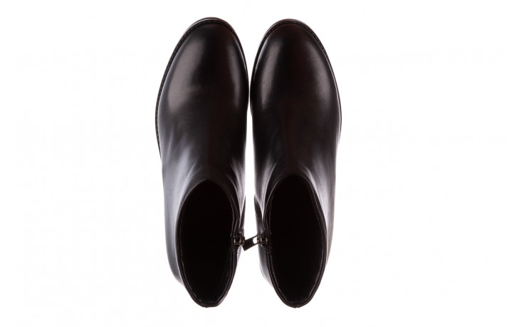 Botki bayla-196 969601 siy soft 196030, czarny, skóra naturalna  - botki - buty damskie - kobieta 5