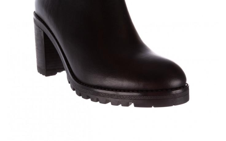 Botki bayla-196 969601 siy soft 196030, czarny, skóra naturalna  - botki - buty damskie - kobieta 6