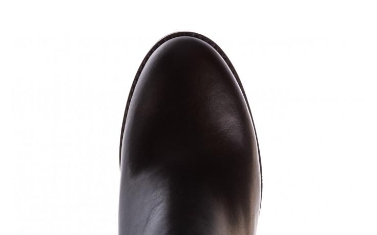 Botki bayla-196 969601 siy soft 196030, czarny, skóra naturalna  - botki - buty damskie - kobieta 7