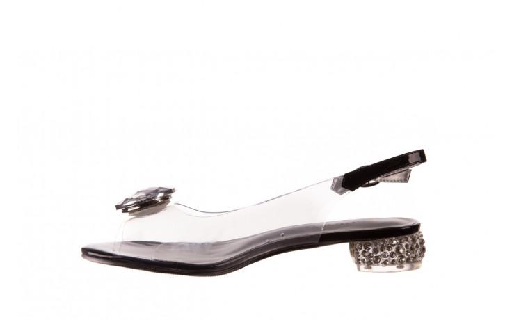 Sandały sca'viola g-15 black 21 047181, czarny, silikon  - sandały - buty damskie - kobieta 2