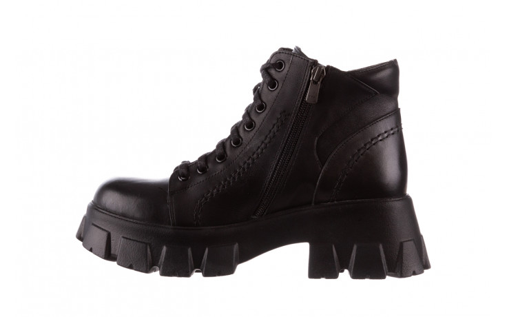 Botki bayla-196 20ef126-03 d44 196020, czarny, skóra naturalna  - skórzane - botki - buty damskie - kobieta 3