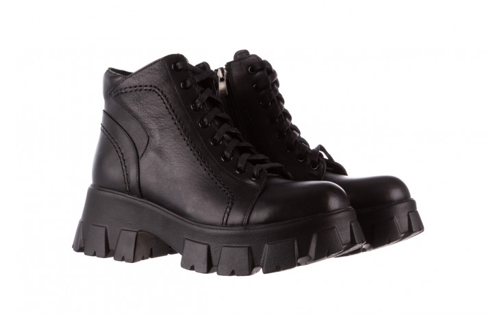 Botki bayla-196 20ef126-03 d44 196020, czarny, skóra naturalna  - skórzane - botki - buty damskie - kobieta 1