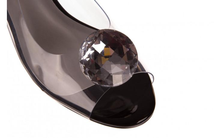 Sandały sca'viola g-15 black 21 047181, czarny, silikon  - sandały - buty damskie - kobieta 5