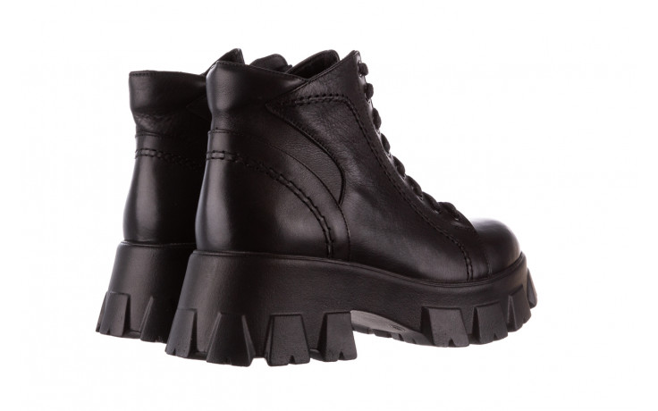 Botki bayla-196 20ef126-03 d44 196020, czarny, skóra naturalna  - skórzane - botki - buty damskie - kobieta 4