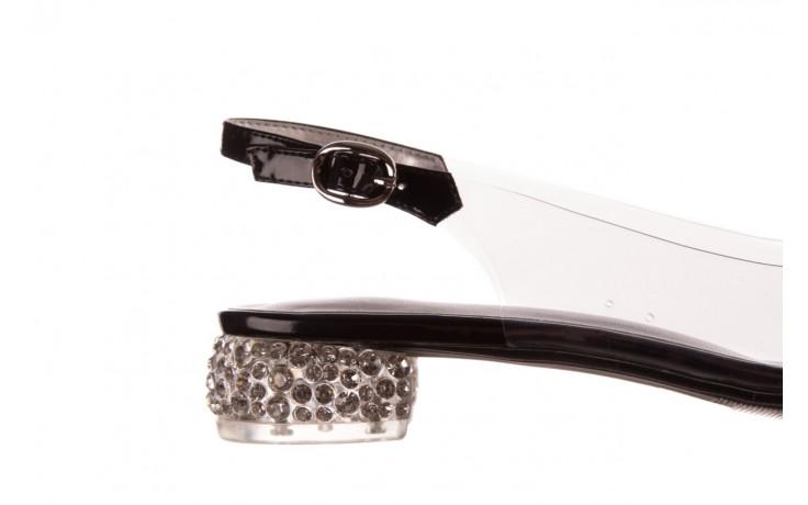 Sandały sca'viola g-15 black, czarny, silikon - mega okazje - ostatnie rozmiary 6