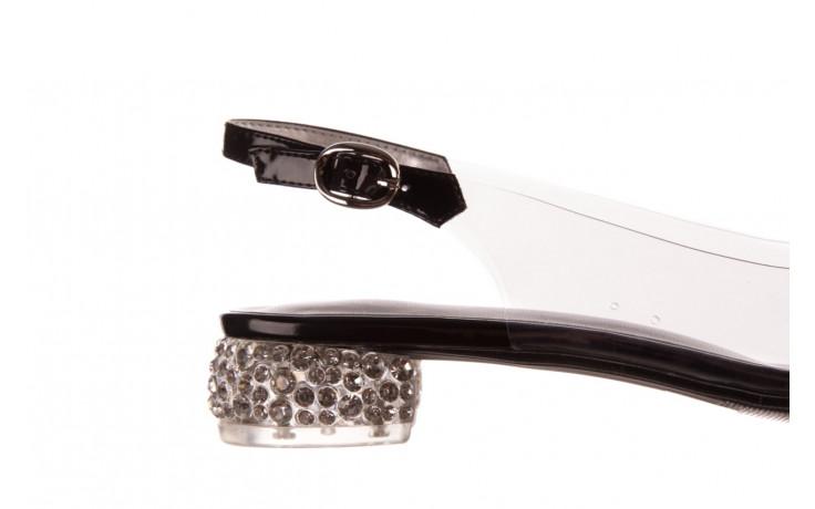 Sandały sca'viola g-15 black 21 047181, czarny, silikon  - sandały - buty damskie - kobieta 6