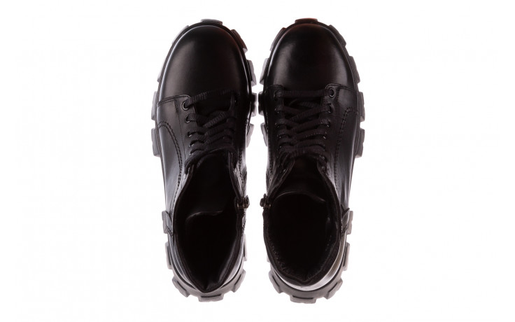 Botki bayla-196 20ef126-03 d44 196020, czarny, skóra naturalna  - skórzane - botki - buty damskie - kobieta 5