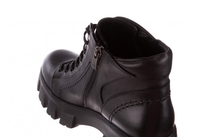 Botki bayla-196 20ef126-03 d44 196020, czarny, skóra naturalna  - skórzane - botki - buty damskie - kobieta 8