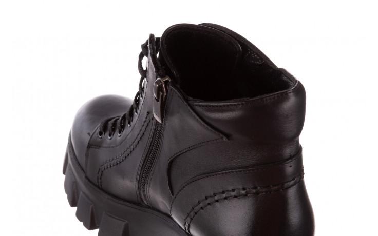 Botki bayla-196 20ef126-03 d44 196020, czarny, skóra naturalna  - skórzane - botki - buty damskie - kobieta 11