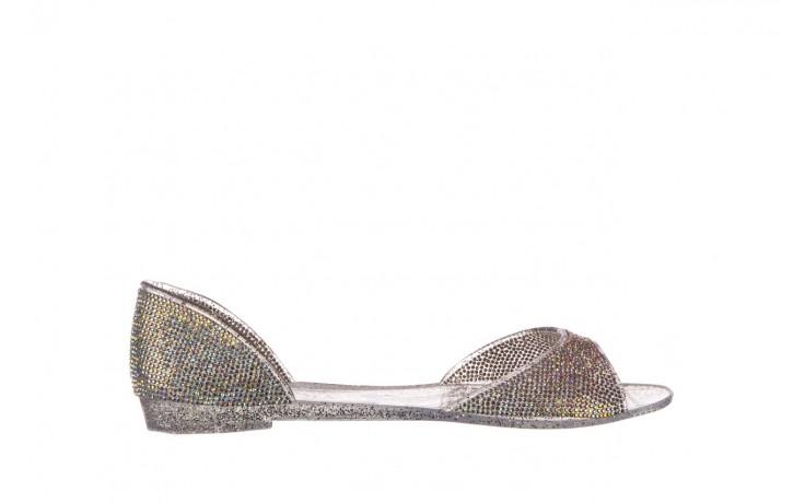 Baleriny sca'viola g-22 silver, srebrny, silikon  - peep toe - baleriny - buty damskie - kobieta