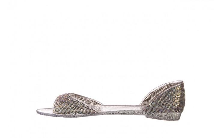 Baleriny sca'viola g-22 silver, srebrny, silikon  - peep toe - baleriny - buty damskie - kobieta 2
