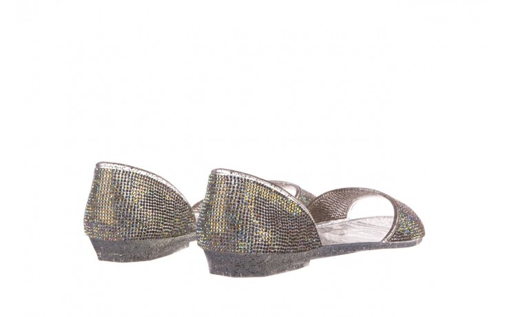 Baleriny sca'viola g-22 silver, srebrny, silikon  - peep toe - baleriny - buty damskie - kobieta 3