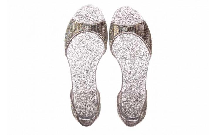 Baleriny sca'viola g-22 silver, srebrny, silikon  - peep toe - baleriny - buty damskie - kobieta 4