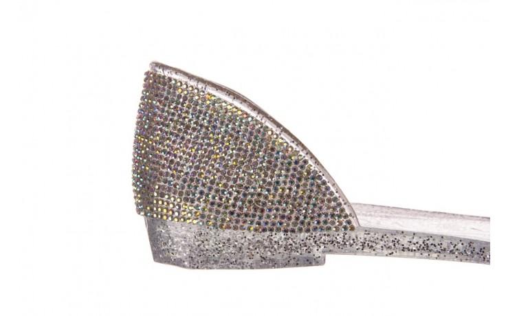 Baleriny sca'viola g-22 silver, srebrny, silikon  - peep toe - baleriny - buty damskie - kobieta 6