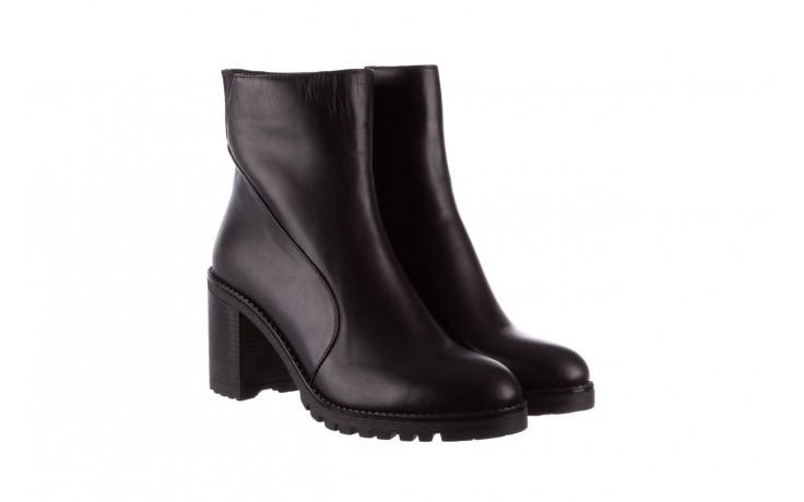 Botki bayla-196 969606 siy soft 196031, czarny, skóra naturalna  - skórzane - botki - buty damskie - kobieta 1