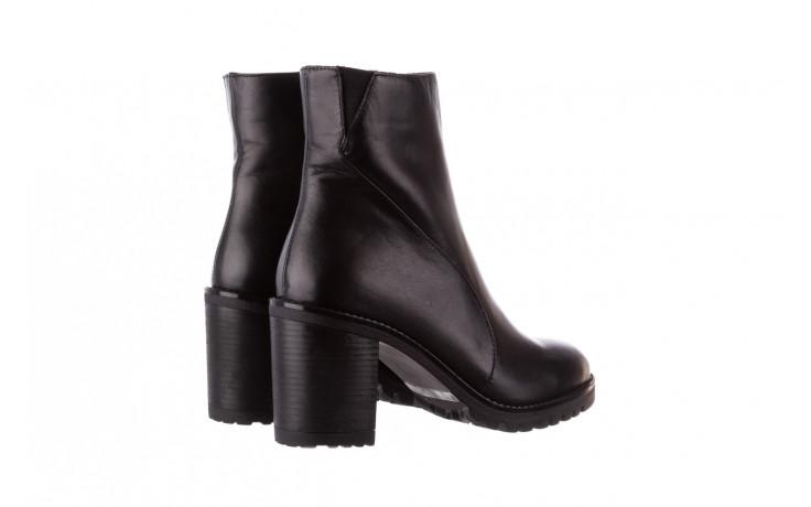 Botki bayla-196 969606 siy soft 196031, czarny, skóra naturalna  - skórzane - botki - buty damskie - kobieta 4