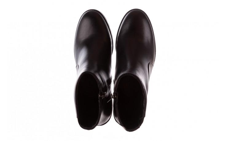 Botki bayla-196 969606 siy soft 196031, czarny, skóra naturalna  - skórzane - botki - buty damskie - kobieta 5
