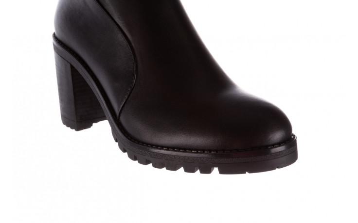 Botki bayla-196 969606 siy soft 196031, czarny, skóra naturalna  - skórzane - botki - buty damskie - kobieta 6