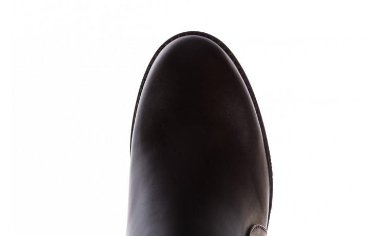 Botki bayla-196 969606 siy soft 196031, czarny, skóra naturalna  - skórzane - botki - buty damskie - kobieta 7