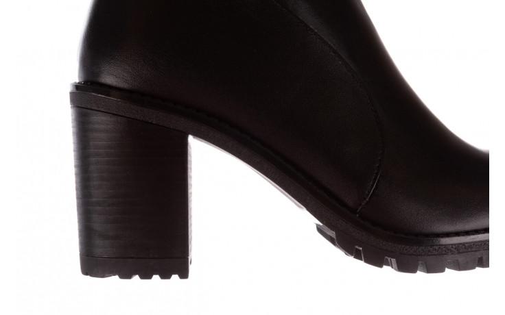Botki bayla-196 969606 siy soft 196031, czarny, skóra naturalna  - skórzane - botki - buty damskie - kobieta 9