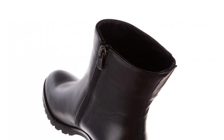 Botki bayla-196 969606 siy soft 196031, czarny, skóra naturalna  - skórzane - botki - buty damskie - kobieta 8