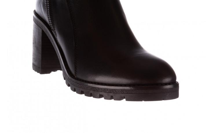 Botki bayla-196 969607 siy soft 196032, czarny, skóra naturalna  - trendy - kobieta 6