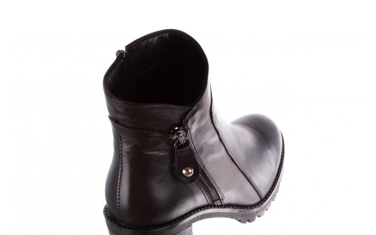 Botki bayla-196 969607 siy soft 196032, czarny, skóra naturalna  - trendy - kobieta 7