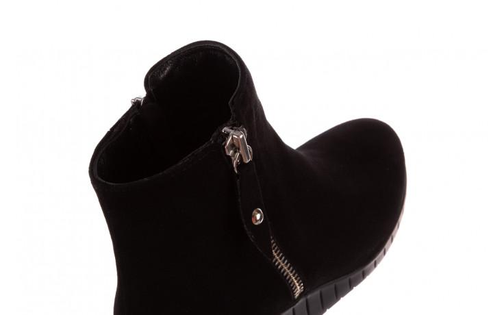 Botki bayla-196 avcilar-02 d78 196038, czarny, skóra naturalna  - botki - buty damskie - kobieta 9