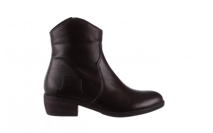 Botki bayla-196 147802 2008 196003, czarny, skóra naturalna  - skórzane - botki - buty damskie - kobieta