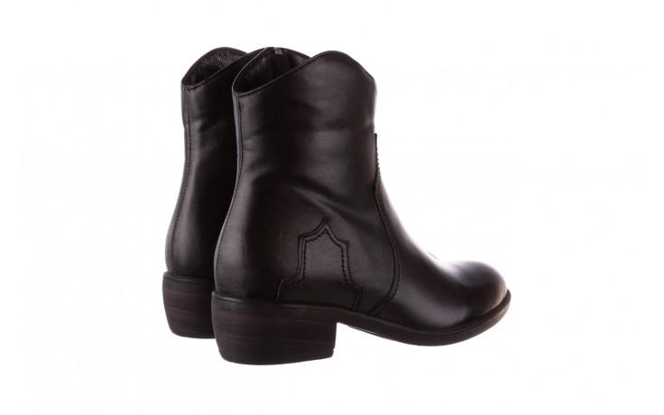 Botki bayla-196 147802 2008 196003, czarny, skóra naturalna  - skórzane - botki - buty damskie - kobieta 4