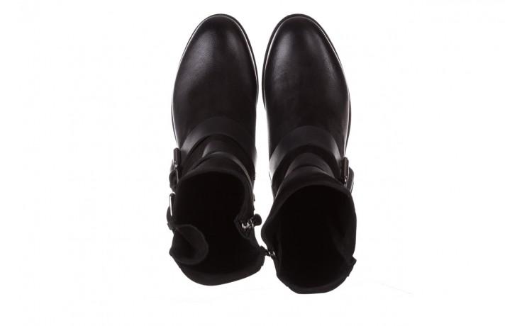 Botki bayla-161 050-09435 black, czarny, skóra naturalna  - skórzane - botki - buty damskie - kobieta 5
