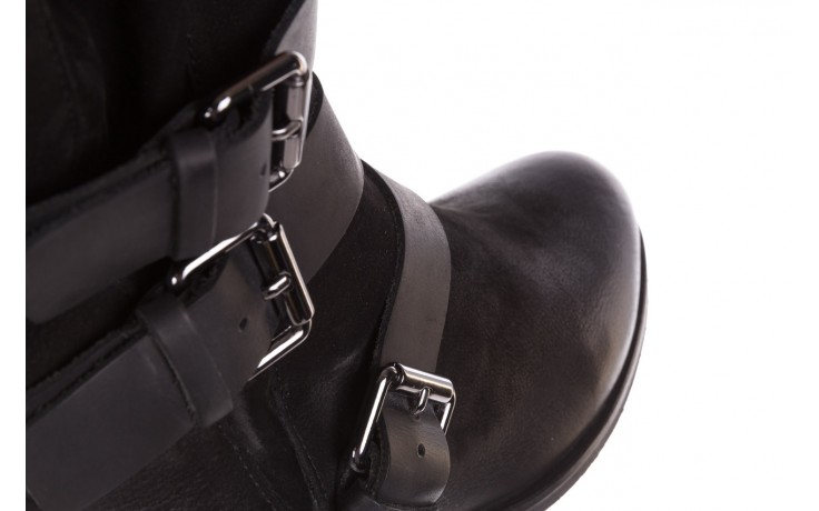 Botki bayla-161 050-09435 black, czarny, skóra naturalna  - skórzane - botki - buty damskie - kobieta 7