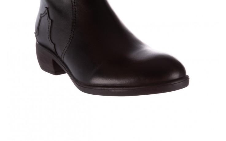 Botki bayla-196 147802 2008 196003, czarny, skóra naturalna  - skórzane - botki - buty damskie - kobieta 6