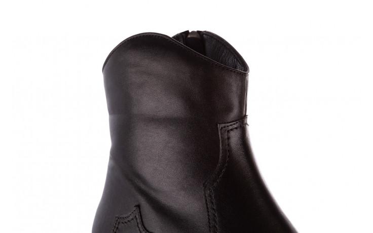 Botki bayla-196 147802 2008 196003, czarny, skóra naturalna  - skórzane - botki - buty damskie - kobieta 7