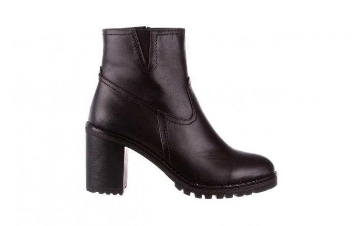 Botki bayla-196 969608 siy soft 196033, czarny, skóra naturalna  - skórzane - botki - buty damskie - kobieta