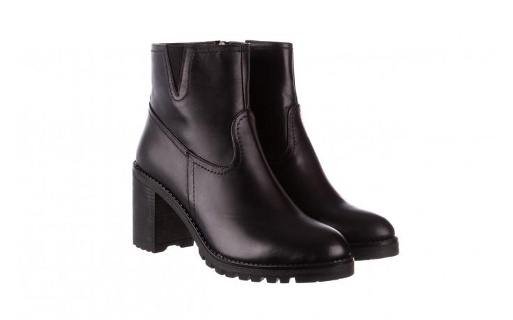 Botki bayla-196 969608 siy soft 196033, czarny, skóra naturalna  - skórzane - botki - buty damskie - kobieta 1