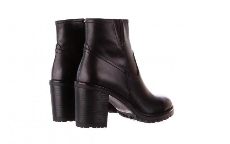 Botki bayla-196 969608 siy soft 196033, czarny, skóra naturalna  - skórzane - botki - buty damskie - kobieta 4