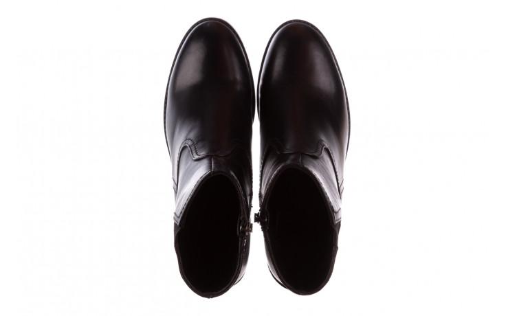Botki bayla-196 969608 siy soft 196033, czarny, skóra naturalna  - skórzane - botki - buty damskie - kobieta 5