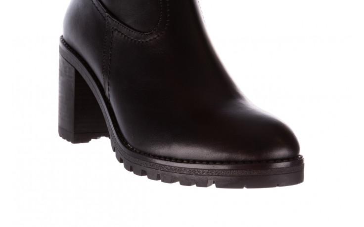Botki bayla-196 969608 siy soft 196033, czarny, skóra naturalna  - skórzane - botki - buty damskie - kobieta 6