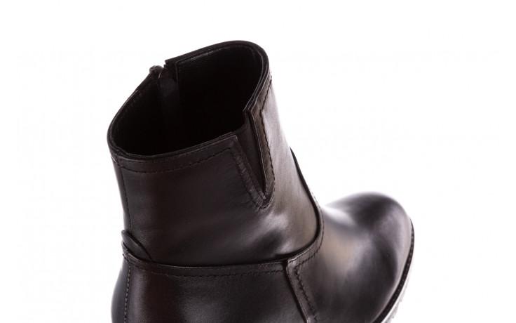 Botki bayla-196 969608 siy soft 196033, czarny, skóra naturalna  - skórzane - botki - buty damskie - kobieta 7