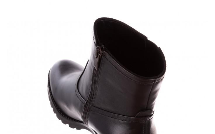 Botki bayla-196 969608 siy soft 196033, czarny, skóra naturalna  - skórzane - botki - buty damskie - kobieta 8