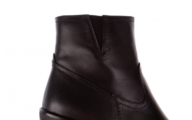 Botki bayla-196 969608 siy soft 196033, czarny, skóra naturalna  - skórzane - botki - buty damskie - kobieta 9