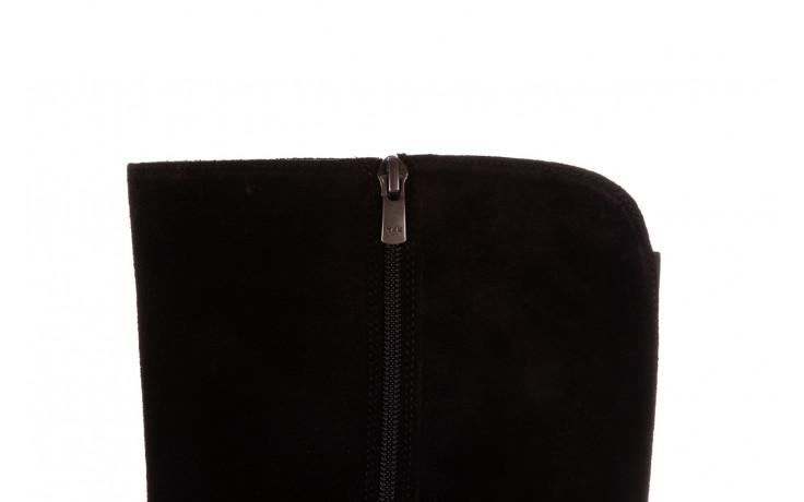 Kozaki bayla-196 950909 siyah suede 196029, czarny, skóra naturalna  - jesień-zima 2020/2021 8