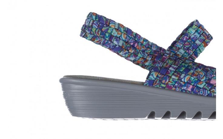 Sandały rock sheila blue orange smoke, niebieski, materiał - na koturnie - sandały - buty damskie - kobieta 6